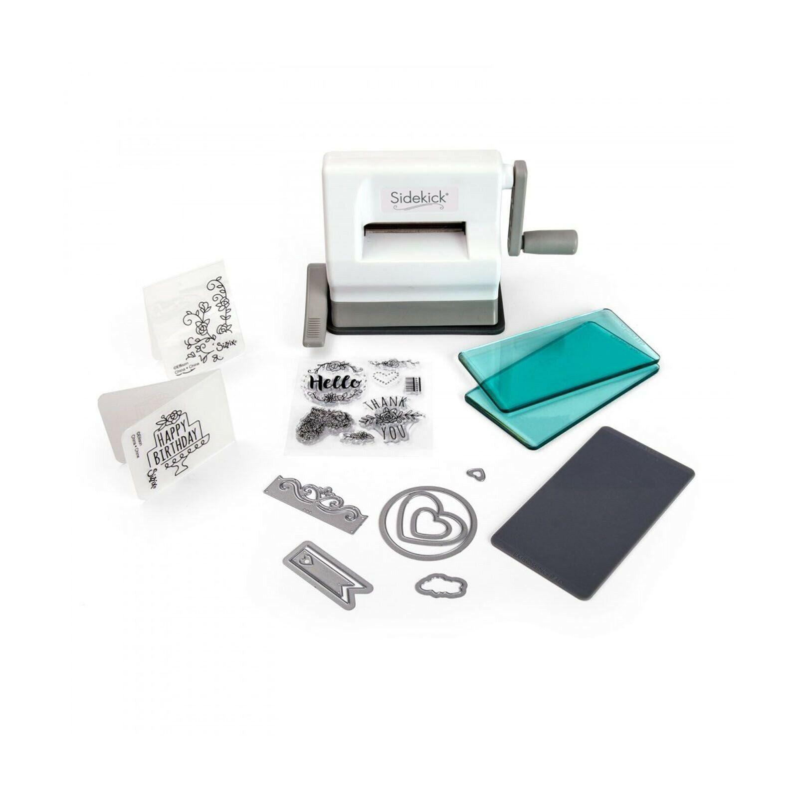 Sissix Sidekick Starter Kit Stanzmaschine Prägemaschine White