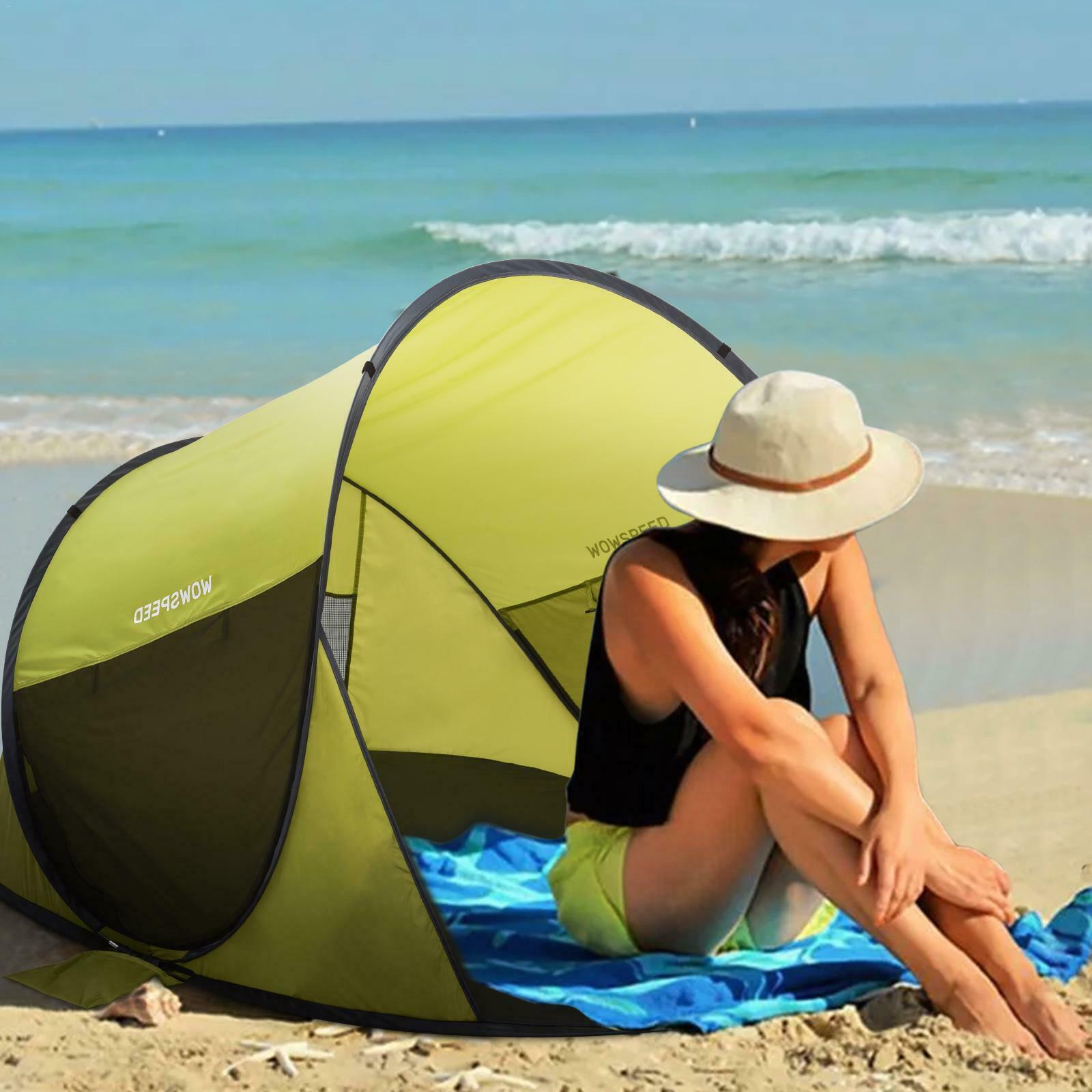 Pop-up Tent 2 Person Water Resistant Barrel Style Rain Fly C