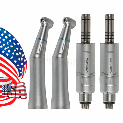 2 Internal Water Dental Low Speed Handpiece Contra Angle+2*Air Motor D2