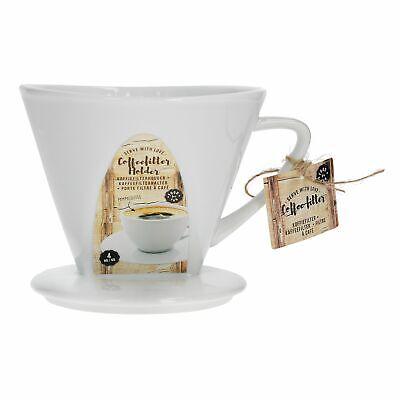 Filter Manuell (Kaffeefilter No. 4 Porzellan weiß SoftBrew Zubereitung manuelles Filtergerät)