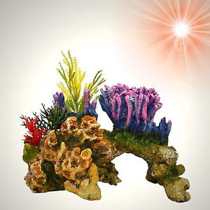 TOP Aquarium Deko ✺ TRAUM-KORALLE ✺ Korallenriff Pflanzen Zubehör Dekoration