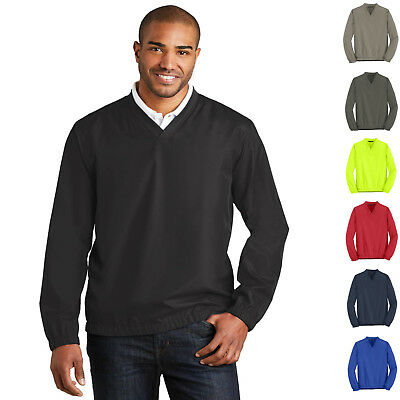 - Mens Golf Wind Shirt Zephyr V-Neck Pullover Windbreaker Golf Jacket J342 XS-4XL