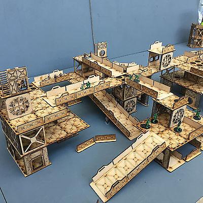 Warhammer 40K Necromunda Slot and Stack Industrial Terrain Set