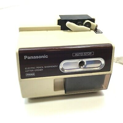Vintage Panasonic Electric Pencil Sharpener And Letter Opener Kp-l1000