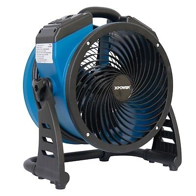 XPOWER P-21AR Compact Industrial Axial Fan, Air Mover with Daisy Chain Outlets
