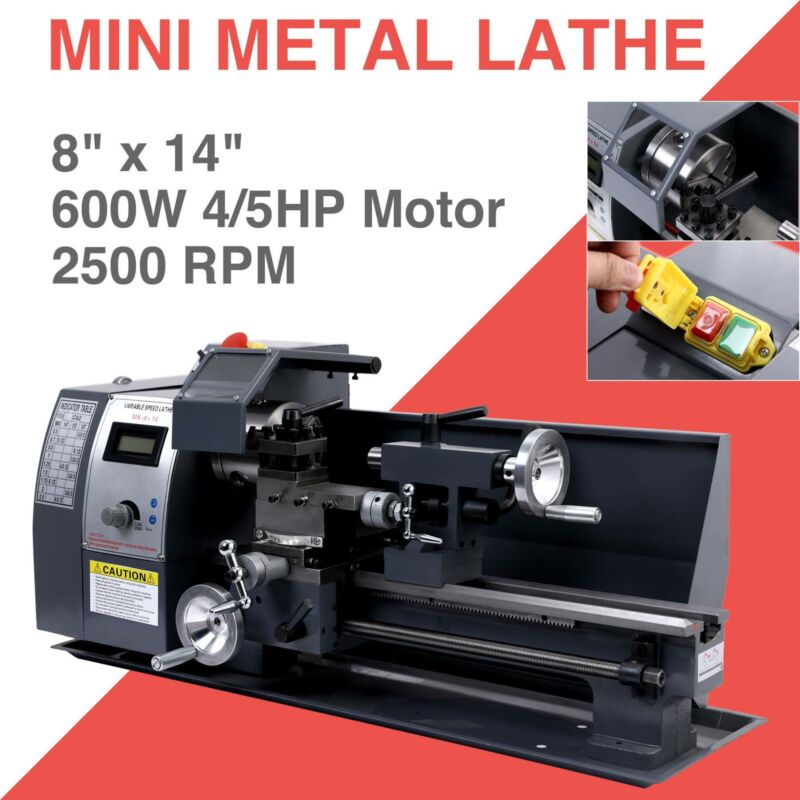 "Automatic 600w 8""x14"" Variable-Speed Mini Metal Lathe Motor"