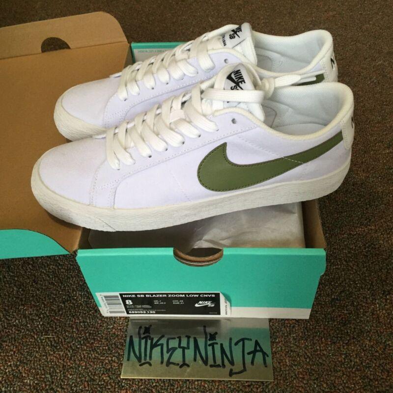 Nike SB Blazer Zoom Low White/Palm Green Size 8