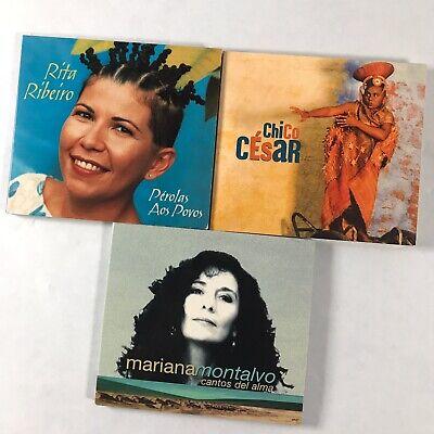 Lot of 3 CD Putumayo Artists Rita Ribeiro Chico Cesar Mariana Montalvo comprar usado  Enviando para Brazil