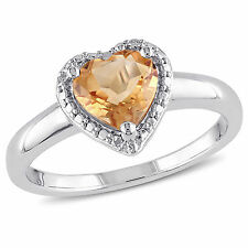Sterling Silver Heart-shaped Birthstone Ring