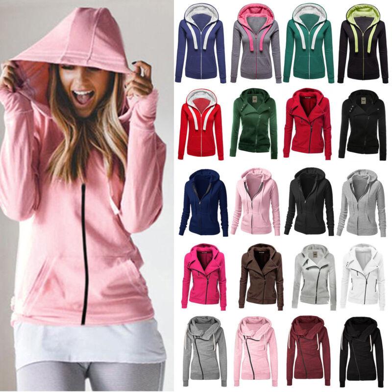 Damen Hoodie Kapuze Pullover kapuzenpullover Sweatshirt Sport Mantel Jacke Hoody