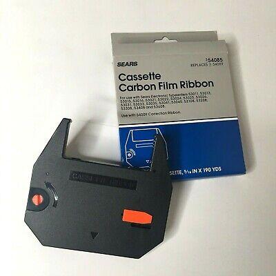Sears Black Carbon Film Ribbon Cassette 3-54085 Sears Electronic Typewriters