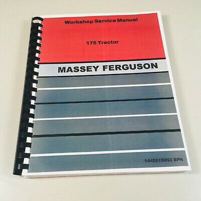 Massey Ferguson 175 Tractor Service Repair Manual Factory Issued Book 304 Pages