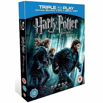 HARRY Potter - The Deathly Hallows Part 1 Triple Play Edition New UK DVD, Bluray