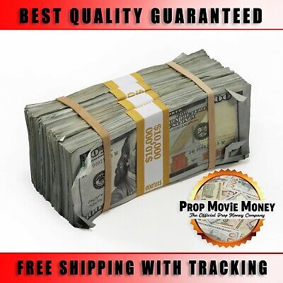 $40,000 - Prop Money BLANK FILLER Aged Fake Play Stacks for Movie & Music Videos