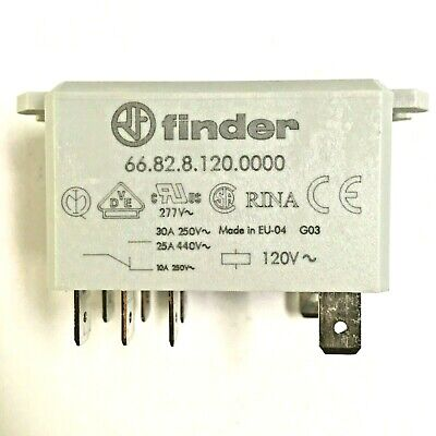 66.82.8.120.0000 Finder Relay Dpdt 15a 120v Ac Coil Agcdo Contact Flange