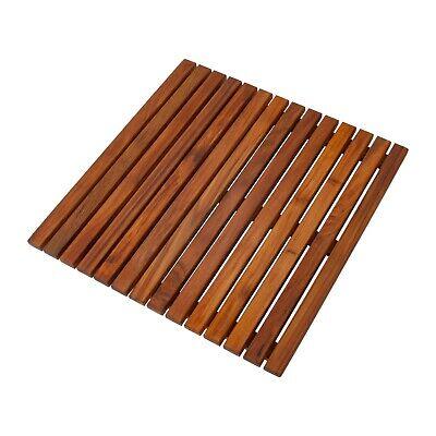 Teak Oiled Indoor Outdoor Bath Shower Mat - Indoor Outdoor Spa 19.6