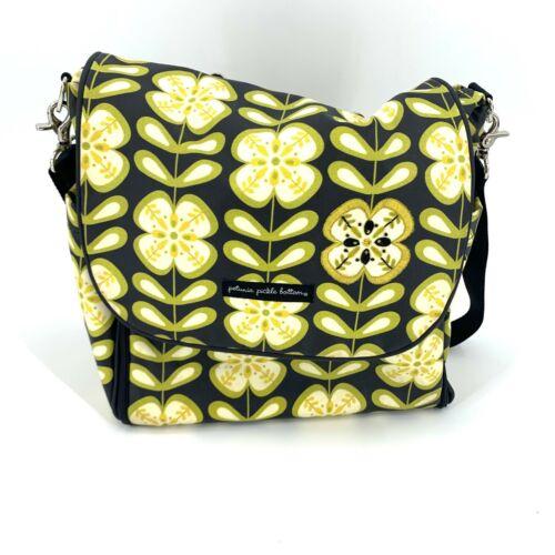 Petunia Pickle Bottom Boxy Diaper Bag Backpack Large Black Floral Wallet