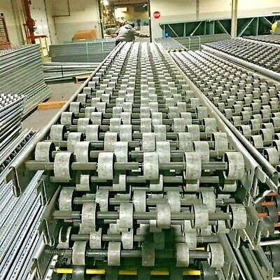 Interroll Skate Wheel Gravity Carton Flow Conveyor - Lot Of 24