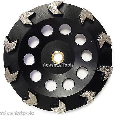 7 Arrow Segment Diamond Grinding Cup Wheel For Concrete - 78-58 Arbor