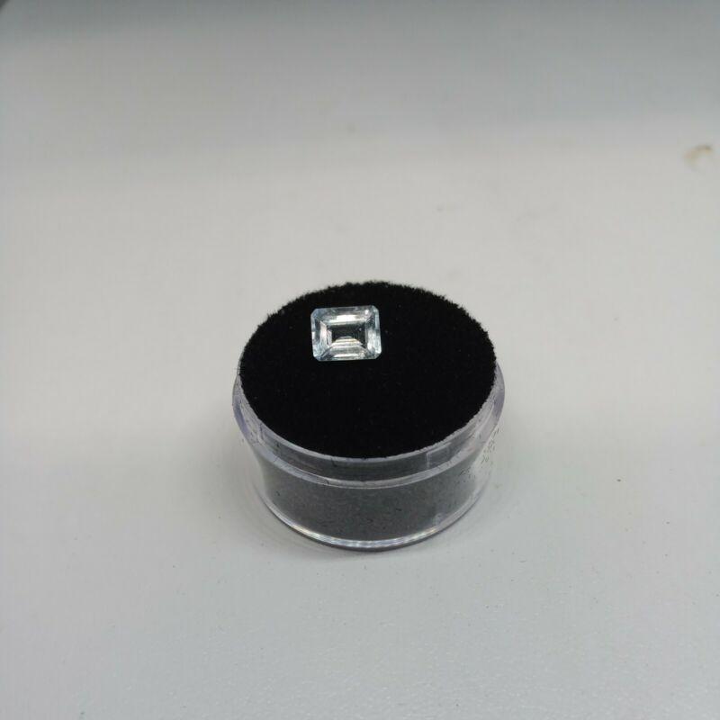1.10ct Natural Aquamarine Emerald Cut 7x5.5mm #ss14