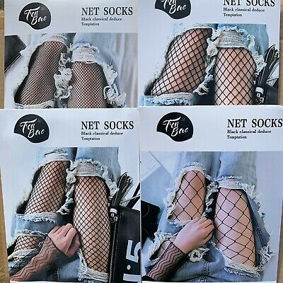 1 Pair Solid Black Hollow Out Plain Pantyhose Mesh Fishnet High Stockings Tights Fishnet Stockings Tights