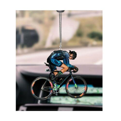 Bicycle Racing Car Hanging Flat 2D Ornament