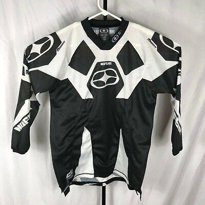 No Fear Boys Kids XL Black White Elektron Motocross MX Dirt Bike Jersey