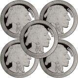 SPECIAL PRICE!! SilverTowne Buffalo Stackables 1oz .999 Silver Medallion (5pc)