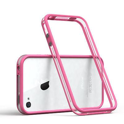 Bumper für Apple iPhone 4 / 4S Case Wallet Schutz Hülle Cover Pink ()