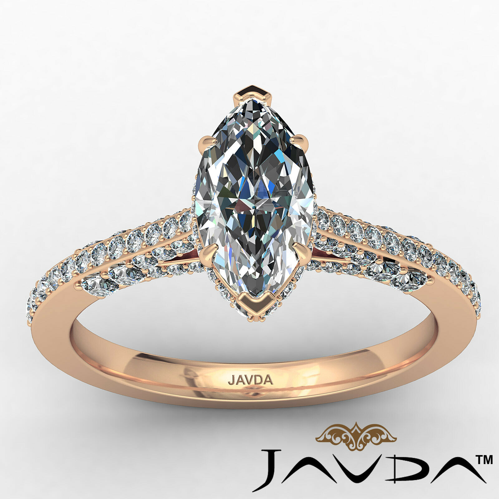 Circa Halo Marquise Diamond Engagement Ring GIA G Color & VVS2 clarity 1.1 ctw 11