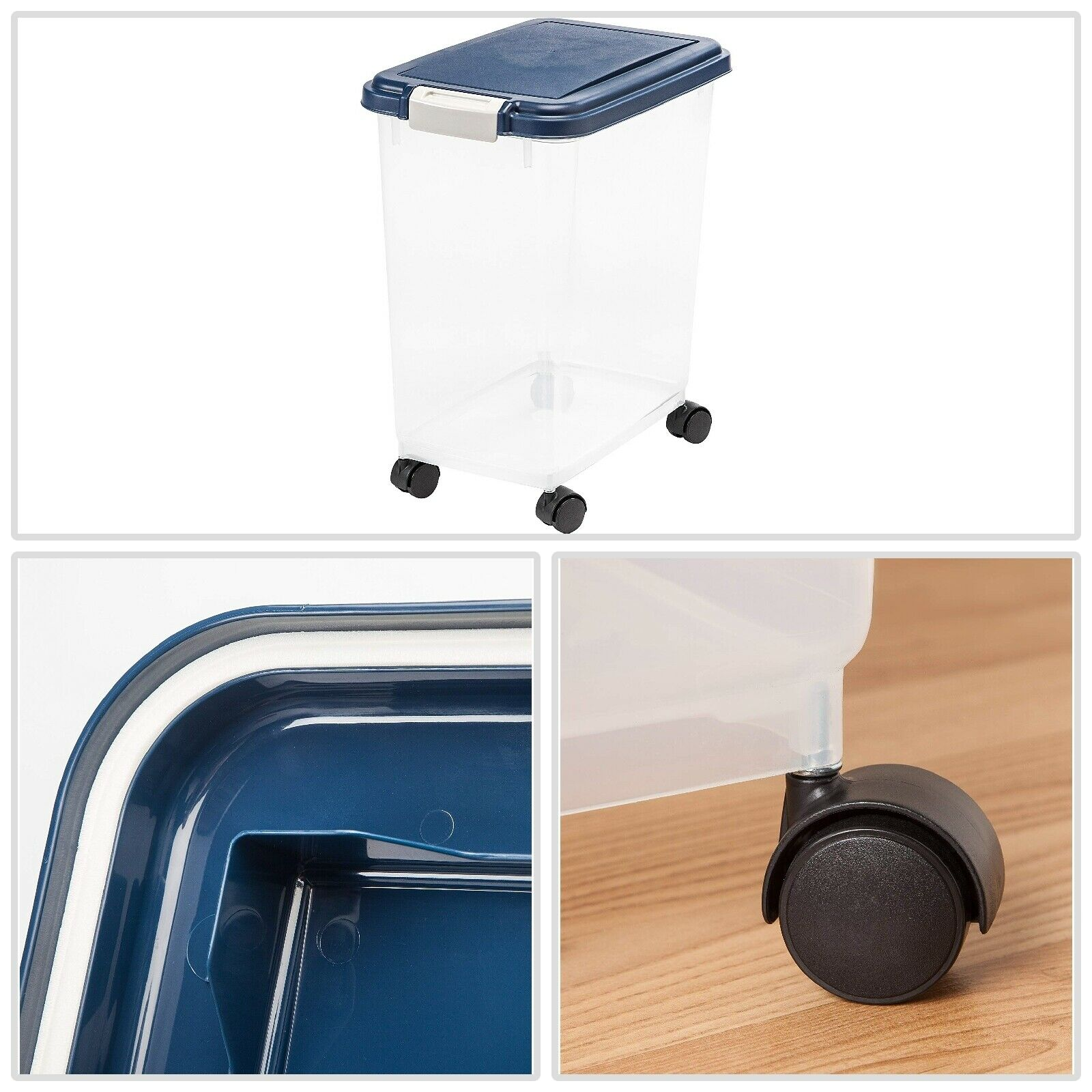 Pet Dog Cat Dry Food Storage Container Built in Airtight Foa