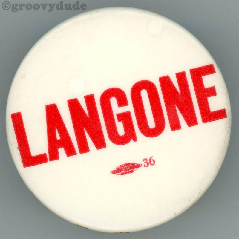 1983 Frederick Langone Boston MA Mayor Massachusetts Campaign Pin Pinback Button