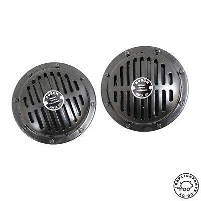 Porsche 356 911 912 Horn Set Bosch 12v High 390hz Low 345hz Replaces 64463510200