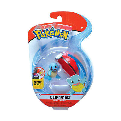 Wicked Cool Toys Pokemon Clip N Go Squirtle Set NEW IN STOCK