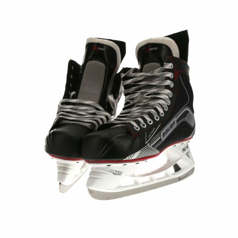 NOB Bauer Vapor X500 Adult Ice Hockey Skates in Black / White / Red - 11