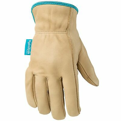 Womens Water-resistant Leather Work Gloves Hydrahyde Medium Wells Lamont ...