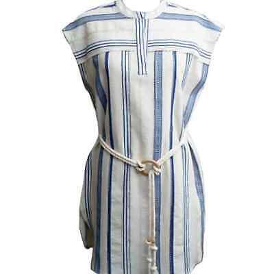 Women's LemLem Blue Aberu Short Sleeve Dress XS