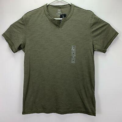 Split-neck T-shirt (INC International Concepts Mens Soft Touch Split-Neck T-Shirt Olive M)