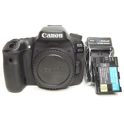 EXCELLENT Canon EOS 80D 24.2MP Digital SLR Camera - Black (Body Only)