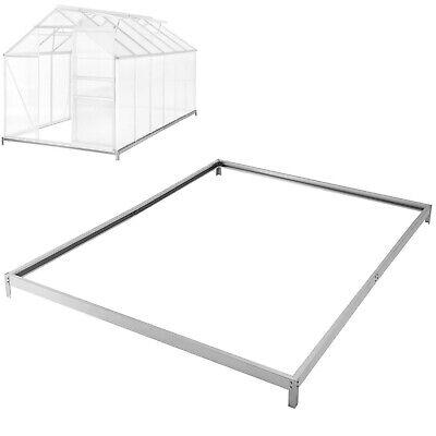 Base para Invernadero Jardín Base Sóllda Acero Galvanizado 375x190x12cm Nuevo