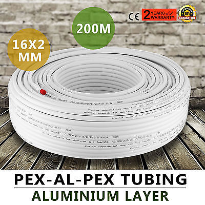 Pex Al Pex Tubing Pipe Radiant Heat 656ft 16x2mm 200m Heating Multilayer Pipe