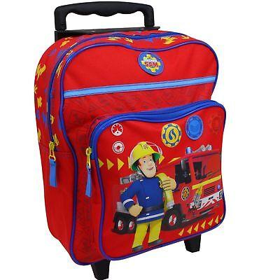 Feuerwehrmann Sam Trolley Koffer Kinderkoffer Rucksack Reisekoffer Rot 8998