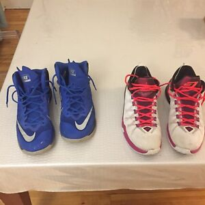 2 pairs of Basketball shoes Jordan and Nike