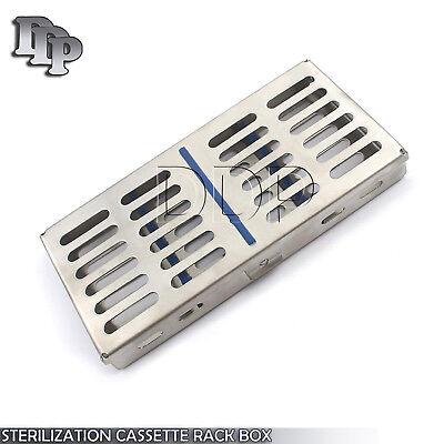 Dental Autoclave Sterilization Cassette Rack Box Tray For 7 Instrument