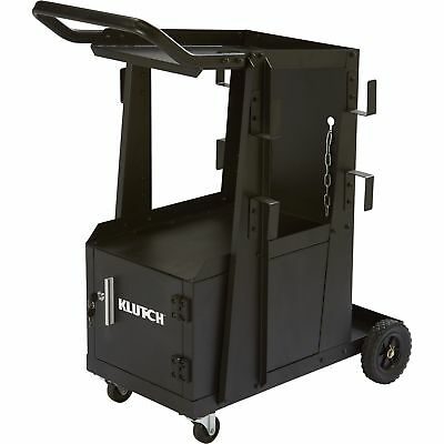 Klutch 2-tier Welding Cart Wlocking Cabinet- 27 14inl X 18 34inw X 35 34inh