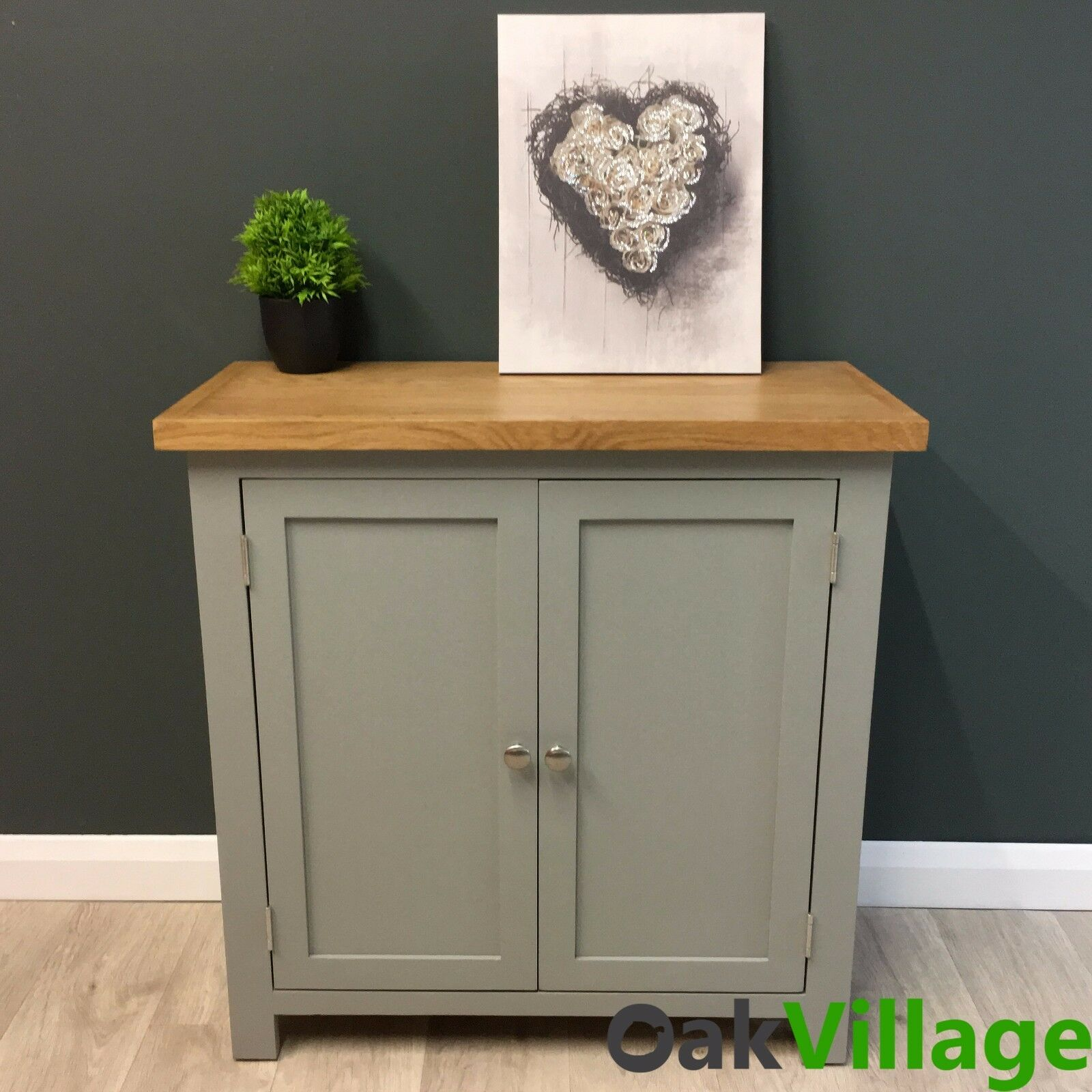 Painting Oak Cabinets Gray: Greymore Painted Small Cupboard Oak / Grey Storage Cabinet