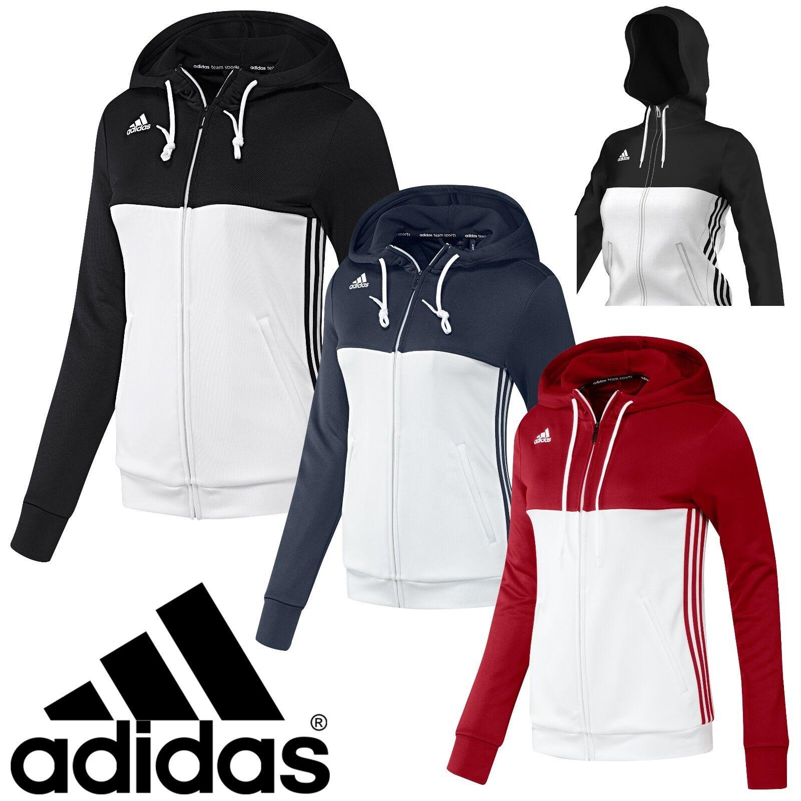 a726b6086279 adidas Ladies T16 Climalite Hoodies Womens Sports Full Zip Hooded Jacket