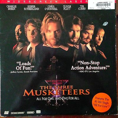 The Three Musketeers - Widescreen Laserdisc Buy 6 for free shipping