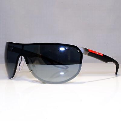 PRADA SS19 Mens Boxed Designer Sunglasses Black Shield SPS 61U 5L0-5L0 24303