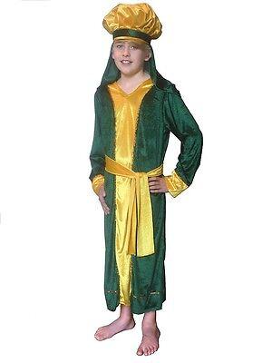 KING MELCHIOR WISE MAN THREE KINGS CHILDRENS FANCY DRESS COSTUME NATIVITY INC XL (Childrens King Costume Nativity)